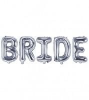 """Folienballon-Set """"Bride"""" - silber"""