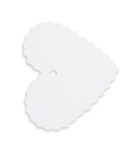 Herz-Geschenkanhänger - weiß - 10 Stück