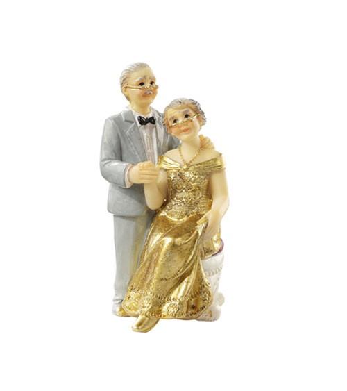 "Deko-Figur ""Goldene Hochzeit"" - 7,5 cm"