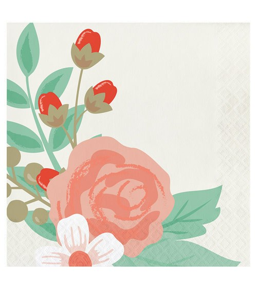 """Servietten """"Floral"""" - 16 Stück"""