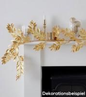 Blätter-Girlande aus Kunststoff - gold - 1,5 m