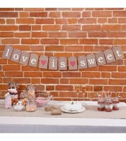 "Candy Bar Girlande ""Love is sweet"""