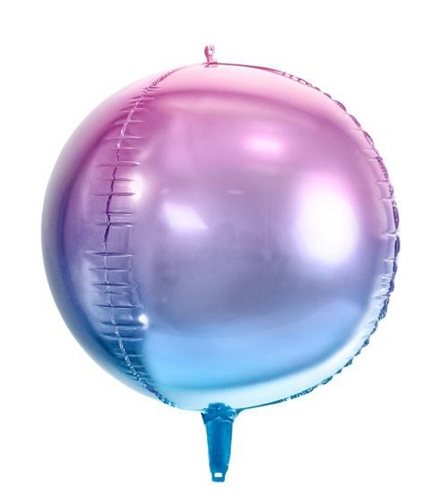 "Kugel-Folienballon ""Ombre"" - lila/blau - 35 cm"