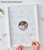 """Bilderrahmen-Gästebuch mit Fotoeinsatz """"Mr & Mrs"""" - 32 x 44 cm"""