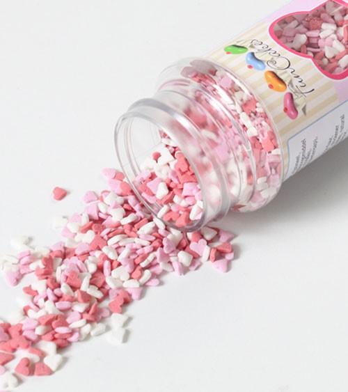 FunCakes Mini-Zuckerherzen - rosa/weiß/rot - 60g