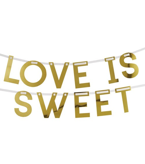 "DIY Schriftzuggirlande ""Love is sweet"" - gold - 2 m"