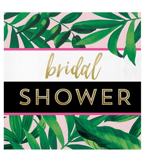 "Servietten ""Goldene Ananas"" - Bridal Shower - 16 Stück"