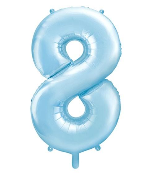 "Supershape-Folienballon ""8"" - pastellblau - 86 cm"
