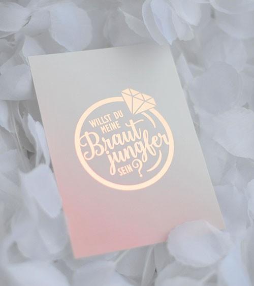 """Karte """"Willst du meine Brautjungfer sein?"""" - Diamantring"""