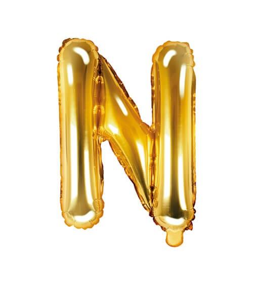 "Folienballon Buchstabe ""N"" - gold - 35 cm"
