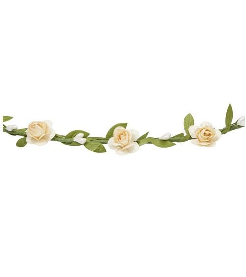 Blütenkranz mit Satinband - creme - verstellbar