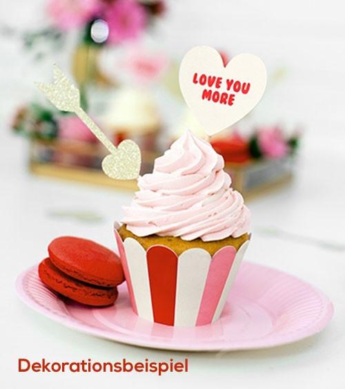 """Cupcake-Wrapper """"Sweet Love"""" - 6 Stück"""