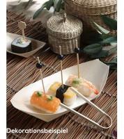 """Fingerfood-Schalen aus Holz """"Schiffchen"""" - 25 x 10 cm - 50 Stück"""