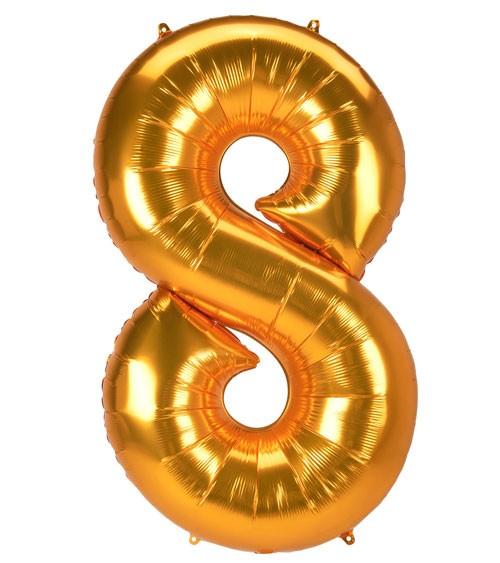 "JumboShape-Folienballon Zahl ""8"" - gold - 78 x 134 cm"