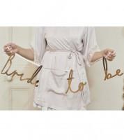 """Schriftzuggirlande """"Bride to be"""" - rosegold - 1,55 m"""