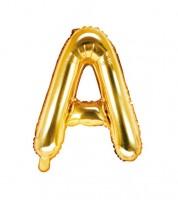 "Folienballon Buchstabe ""A"" - gold - 35 cm"