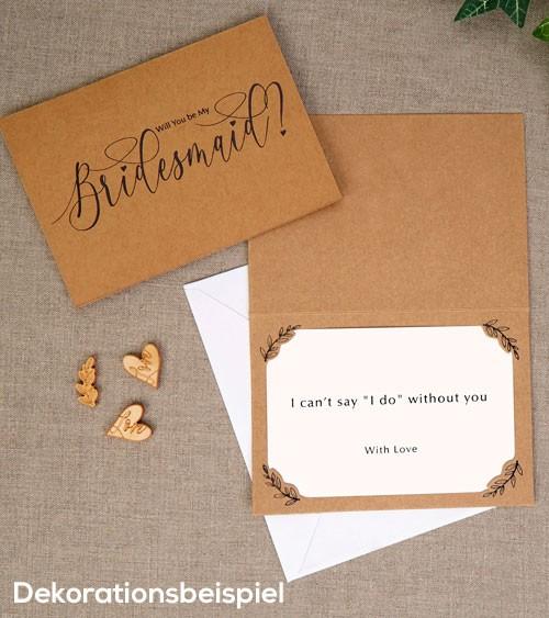 """Kraftpapier-Karten """"Will you be my Bridesmaid?"""" - 3 Stück"""