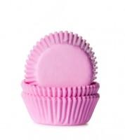 """60 Mini-Muffinförmchen """"Uni"""" - rosa"""
