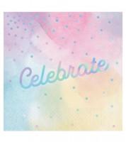 "Servietten ""Iridescent"" - Celebrate - 16 Stück"