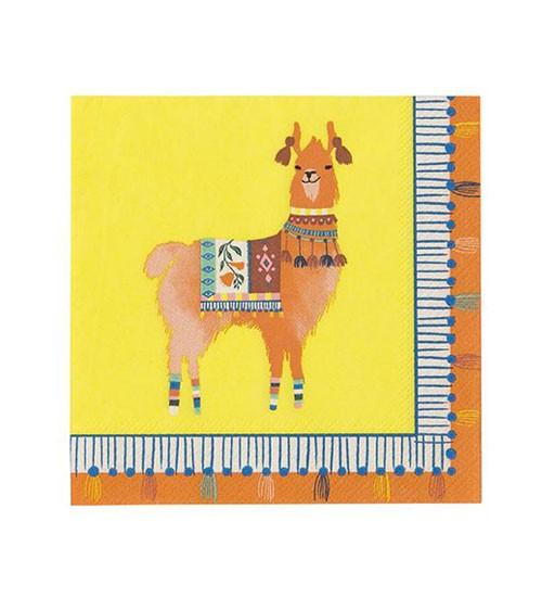 """Cocktail-Servietten """"Mexican Boho"""" - Lama - 20 Stück"""