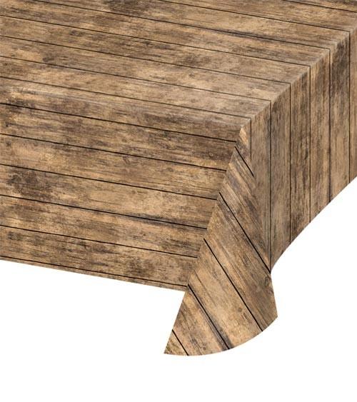 "Kunststoff-Tischdecke ""Rustikales Holz"" - 137 x 274 cm"