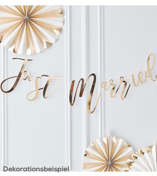 """""""Just Married""""-Girlande - gold - 1,5 m"""