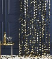 Sternen-Vorhang - gold metallic - 1,2 x 2 m