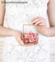 Ring-Box aus Glas - gold - 9 x 5,5 x 4 cm