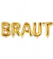 "Folienballon-Set ""Braut"" - gold"