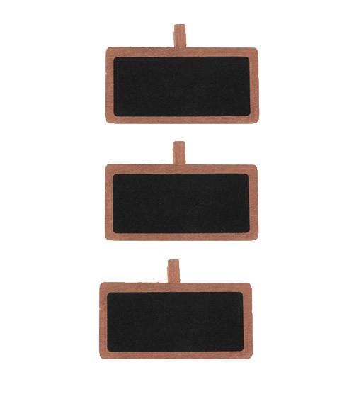 Mini-Kreidetafel mit Klammer und Rand - rosegold - 12 Stück