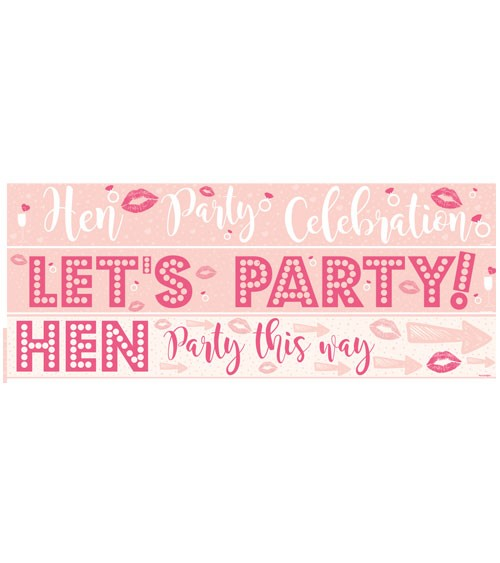 "Partybanner ""Hen Party"" - blush/pink - 3-teilig"