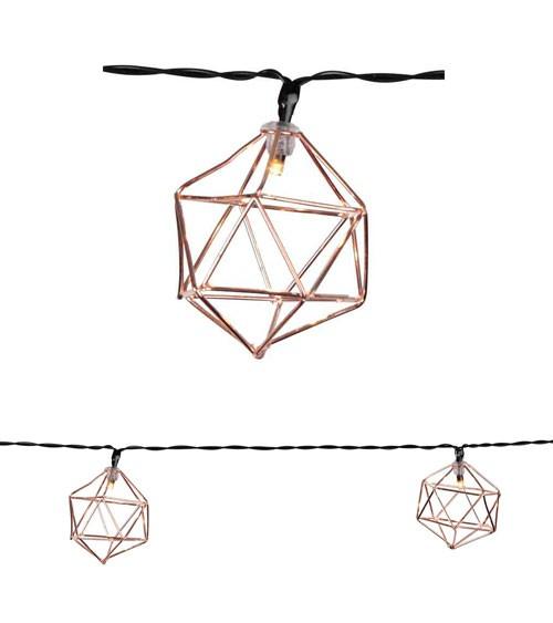 """LED-Lichterkette """"Geo"""" - kupfer - 5,25 m"""