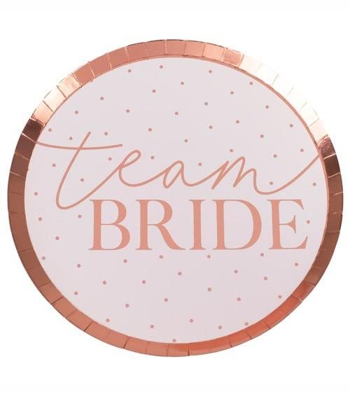 Team Bride Pappteller - 8 Stück