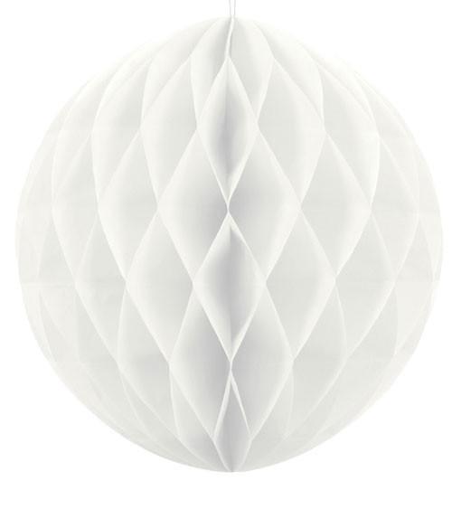 Wabenball - 40 cm - weiß