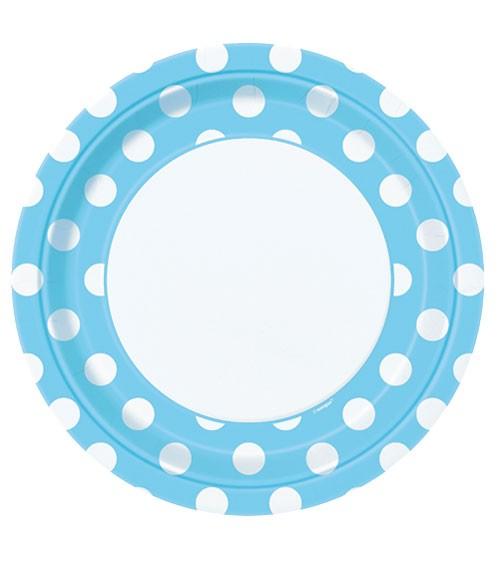 """Pappteller """"Big Dots"""" - Powder Blue - 8 Stück"""