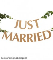 "DIY Schriftzuggirlande ""Just Married"" - Kraftpapier - 2 m"