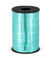 Geschenkband - metallic türkis - 5 mm x 225 m