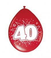 """Metallic-Luftballons """"40"""" - rot - 8 Stück"""