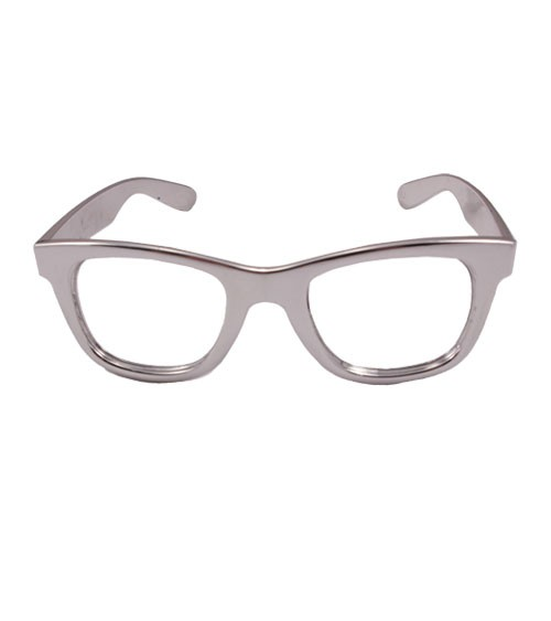 Party-Brille - metallic silber