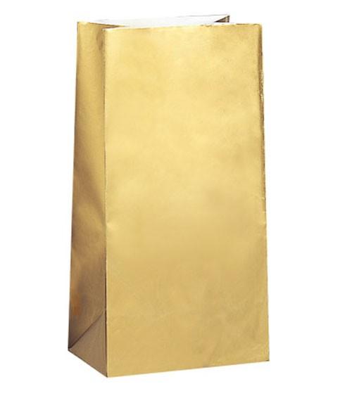 10 Papiertüten - gold
