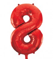 "Supershape-Folienballon ""8"" - rot - 86 cm"