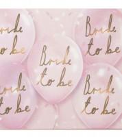 Bride to be Luftballons - rosa - 6 Stück