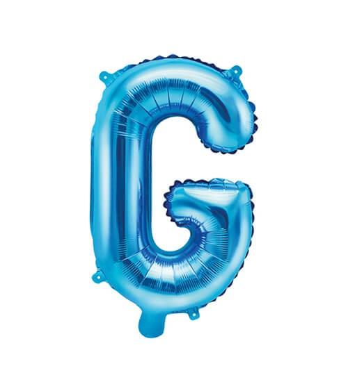 """Folienballon Buchstabe """"G"""" - blau - 35 cm"""