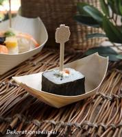 """Fingerfood-Schalen aus Holz """"Schiffchen"""" - 8,5 x 5,5 cm - 50 Stück"""