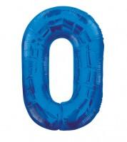 "Supershape-Folienballon ""0"" - dunkelblau"