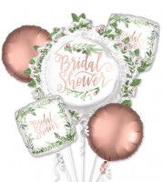 "Folienballon-Set ""Love & Leaves"" - Bridal Shower - 5-teilig"