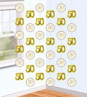 "Girlandenvorhang ""50 Happy Years"" - 6 Stück"