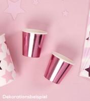 Shot-Pappbecher - metallic pink - 8 Stück