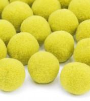 Plüsch-Pom Poms - gelb - 20 Stück