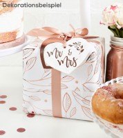"Geschenkverpackungs-Set ""Mr & Mrs"" - rosegold - 9-teilig"